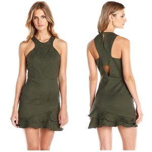 Parker Barcelona Cutaway Jacquard Dress, Size S